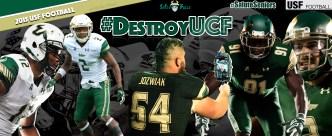 #DestroyUCF USF Football Thursday Night Thanksgiving ESPN Facebook Cover Photo by Matthew Manuri | South Florida Football 2015 (3568x1462)