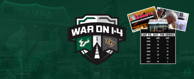 #WarOnI4 Destroy C. Florida UCiF 2016 USF Football Facebook Cover Image by Matthew Manuri | SoFloBulls.com (3568x1462)