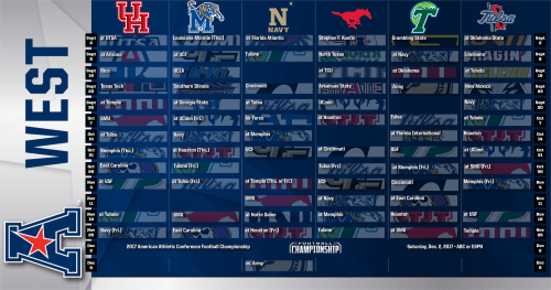 2017 AAC West Divsion Football Schedule (2000x1050)