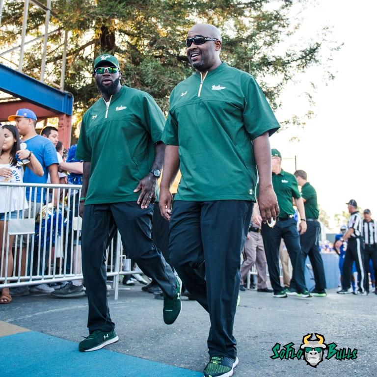 106 - USF vs. San Jose State 2017 - USF Coaches Shaun King Stephen Nicholas by Dennis Akers | SoFloBulls.com (2880x2880)