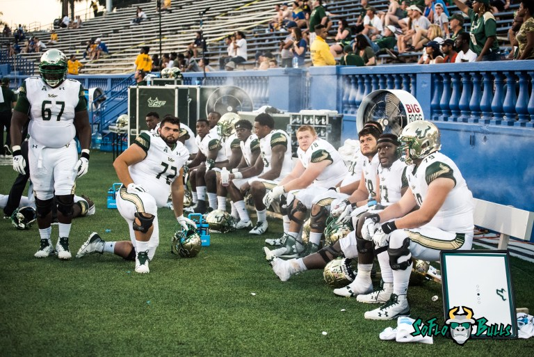 125 - USF vs. San Jose State 2017 - USF Players on the Bench and Sideline by Dennis Akers | SoFloBulls.com (5634x3761)