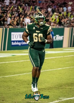 128 - Temple vs. USF 2017 - USF DT Bruce Hector by Dennis Akers | SoFloBulls.com (2303x3224)
