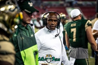 132 - Temple vs. USF 2017 - USF HC Charlie Strong by Dennis Akers | SoFloBulls.com (5553x3707)