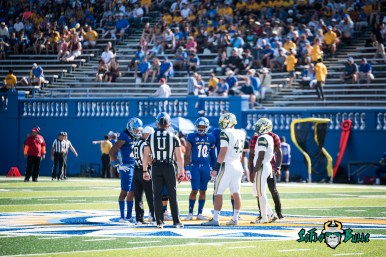 45 - USF vs. San Jose State 2017 - USF QB Quinton Flowers Auggie Sanchez Coin Toss by Dennis Akers | SoFloBulls.com (5861x3913)