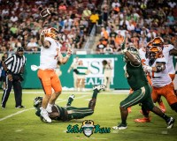 52 - Illinois vs. USF 2017 - USF DE Mike Love Deadrin Senat Sacking QB Chayce Crouch by Dennis Akers | SoFloBulls.com (4742x3794)