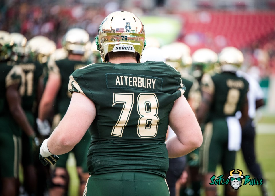 53 - Stony Brook vs. USF 2017 - USF OL Billy Atterbury by Dennis Akers | SoFloBulls.com (5260x3757)