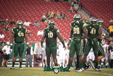 55 - Temple vs. USF 2017 - USF DT Bruce Hector Deadrin Senat Mike Love Greg Reaves by Dennis Akers | SoFloBulls.com (4340x2897)