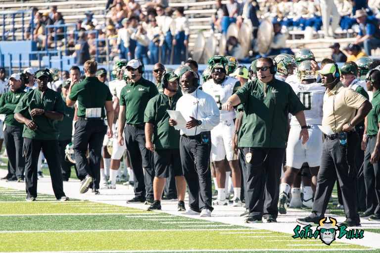 55 - USF vs. San Jose State 2017 - USF HC Charlie Strong by Dennis Akers | SoFloBulls.com (3513x2345)