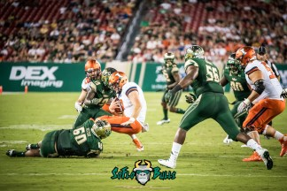 56 - Illinois vs. USF 2017 - USF DT Bruce Hector Ronnie Hoggins Juwuan Brown Sack Chayce Crouch by Dennis Akers | SoFloBulls.com (5118x3417)