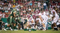 63 - Temple vs. USF 2017 - USF DL vs. Temple OL by Dennis Akers | SoFloBulls.com (4705x2647)
