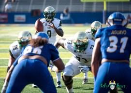 77 - USF vs. San Jose State 2017 - USF QB Quinton Flowers Jeremi Hall by Dennis Akers | SoFloBulls.com (4613x3295)