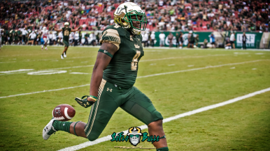 South Florida WR Tyre McCants 65 Yard Touchdown vs. Stony Brook Highlights 2017 YouTube Cover Image | SoFloBulls.com (1920x1080)
