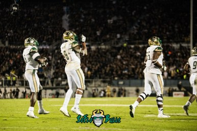 76 - USF vs. UCF 2017 - USF WR Tyre McCants Darius Tice Eric Mayes by Dennis Akers | SoFloBulls.com (5095x3401)
