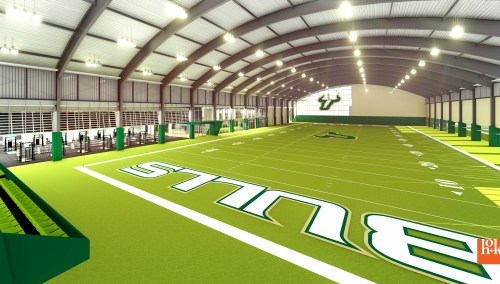 USF Football Center Rendering Indoor Practice Facility IPF Image - SoFloBulls.com (3840x2160)
