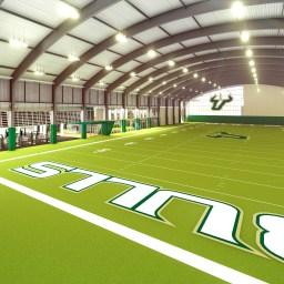 USF Football Center Rendering Indoor Practice Facility IPF Field Image via USF Athletics