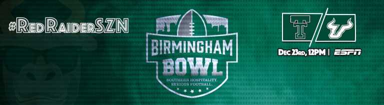 #RedRaiderSZN Texas Tech vs. USF Football 2017 Birmingham Bowl Header Image by Matthew Manuri | SoFloBulls.com (1920x524)