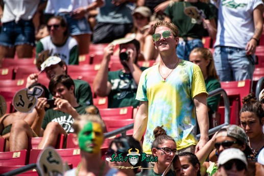 108 - Georgia Tech vs. USF 2018 - USF Fans in Crowd by Dennis Akers | SoFloBulls.com (6016x4016)