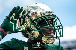 135 - Georgia Tech vs. USF 2018 - USF DB Mazzi Wilkins Can You Hear Me? by Dennis Akers | SoFloBulls.com (6016x4016)