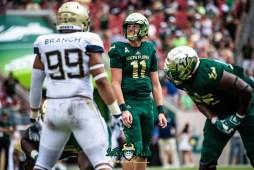 136 - Georgia Tech vs. USF 2018 - USF QB Blake Barnett by Dennis Akers | SoFloBulls.com (6016x4016)