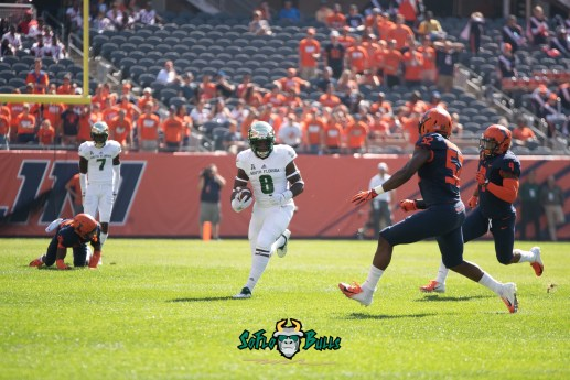17 - USF vs. Illinois 2018 - USF WR Tyre McCants Mike Hampton by Dennis Akers | SoFloBulls.com (4194x2800)