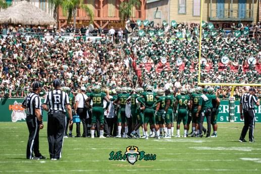 41 - Georgia Tech vs. USF 2018 - USF Football Team on Field Background Image by Dennis Akers   SoFloBulls.com (6016x4016)