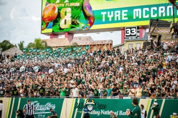 91 - Elon vs. USF 2018 - USF Student Section Crowd in stands by Dennis Akers | SoFloBulls.com (5922x3953)