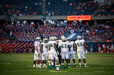 103 - USF vs. Illinois 2018 - USF WR Stanley Clerveaux Hal Roberson Tyre McCants Eric Mayes by Dennis Akers | SoFloBulls.com (6016x4016)
