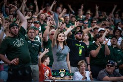 146 - USF vs. Illinois 2018 - USF Fans in crowd at Soldier Field by Dennis Akers | SoFloBulls.com (6016x4016)
