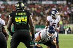 153 - USF vs. UConn 2018 - USF DE Kevin Bronson by Will Turner | SoFloBulls.com (4331x2898) - 0H8A9101
