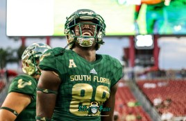 18A - USF vs. ECU 2018 - USF TE Chris Carter by Will Turner | SoFloBulls.com (4589x2988)