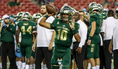 35A - USF vs. ECU 2018 - USF QB Chris Oladokun by Will Turner | SoFloBulls.com (4624x2719)