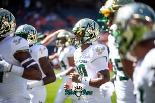 45 - USF vs. Illinois 2018 - USF QB Chris Oladokun by Dennis Akers | SoFloBulls.com (6016x4016)