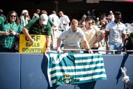 54 - USF vs. Illinois 2018 - USF Fans in Crowd with Flag at Soldier Field by Dennis Akers   SoFloBulls.com (6016x4016)