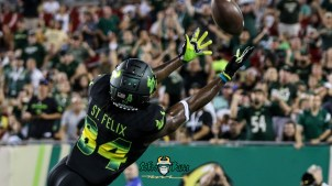 90 - USF vs. UConn 2018 - USF WR Randall St. Felix by Will Turner   SoFloBulls.com (4644x2602) - 0H8A8670