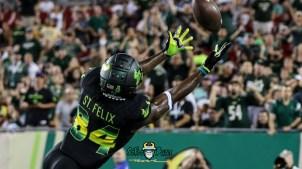 90 - USF vs. UConn 2018 - USF WR Randall St. Felix by Will Turner | SoFloBulls.com (4644x2602) - 0H8A8670