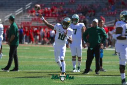 11 - USF vs. Houston 2018 - USF QB Chris Oladokun by Will Turner | SoFloBulls.com (5472x3648) - 0H8A9334
