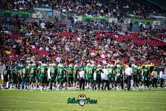 12 - Tulane vs. USF 2018 - USF Football Team on Raymond James Field by Dennis Akers | SoFloBulls.com (6016x4016)