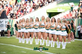 15 - UCF vs. USF 2018 - USF Sundolls in endzone at Raymond James Stadium by Dennis Akers | SoFloBulls.com