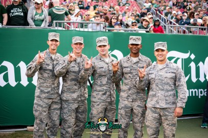 40 - Tulane vs. USF 2018 - USF Military Salute to Service on Sideline by Dennis Akers | SoFloBulls.com (6016x4016)