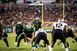 63 - UCF vs. USF 2018 - USF QB Brett Kean Brad Cecil Jordan Cronkrite by Dennis Akers | SoFloBulls.com