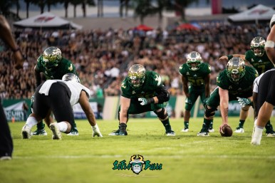 64 - UCF vs. USF 2018 - USF OL Billy Atterbury Brad Cecil Johnny Ford Brett Kean by Dennis Akers | SoFloBulls.com