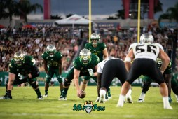 65 - UCF vs. USF 2018 - USF OL Billy Atterbury Brad Cecil Johnny Ford Brett Kean by Dennis Akers | SoFloBulls.com