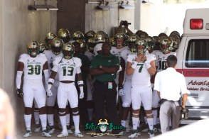 67 - USF vs. Houston 2018 - USF Football Team coming out of Tunnel Pre-Game at TDECU Stadium Deangelo Antoine Brett Kean Jeffrey Farrar by Will Turner | SoFloBulls.com (5472x3648) - 0H8A9466