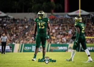 78 - UCF vs. USF 2018 - USF DE Vincent Jackson by Dennis Akers | SoFloBulls.com