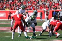 95 - USF vs. Houston 2018 - USF QB Blake Barnett Marcus Norman Jordan Cronkrite by Will Turner   SoFloBulls.com (5472x3648) - 0H8A9582