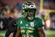 51 - Marshall vs. USF 2018 - USF WR Stanley Clerveaux by Dennis Akers | SoFloBulls.com
