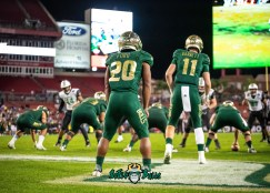 93 - Marshall vs. USF 2018 - USF RB Johnny Ford Blake Barnett by Dennis Akers | SoFloBulls.com