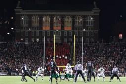 48 – USF vs. Cincinnati 2018 – USF QB Chris Oladokun at Nippert Stadium by Will Turner – SoFloBulls.com – 0H8A1072