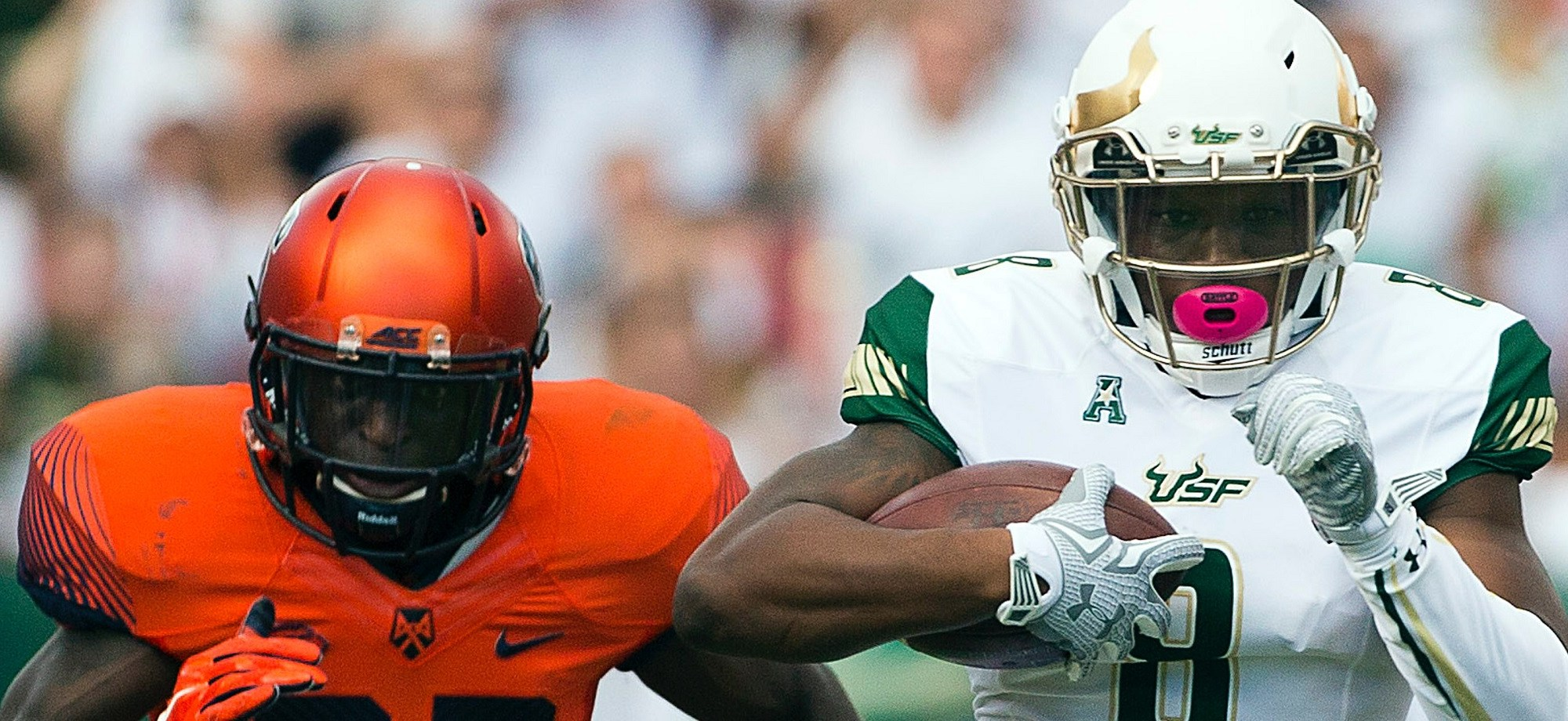 The Birth of #Ocho: USF WR Tyre McCants First Big Play as a Bull vs. Syracuse 2015 Article Featured Image | SoFloBulls.com