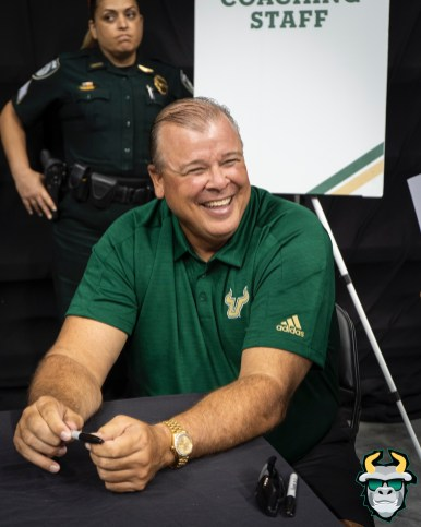 61 - USF Offensive Coordinator Kerwin Bell 2019 by David Gold DRG03556